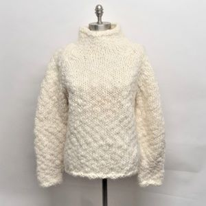 Thick & Thin Chunky Wool Uruguay Mock Sweater L